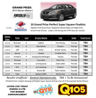 Super Squares | 10 Grand Prize Finalists