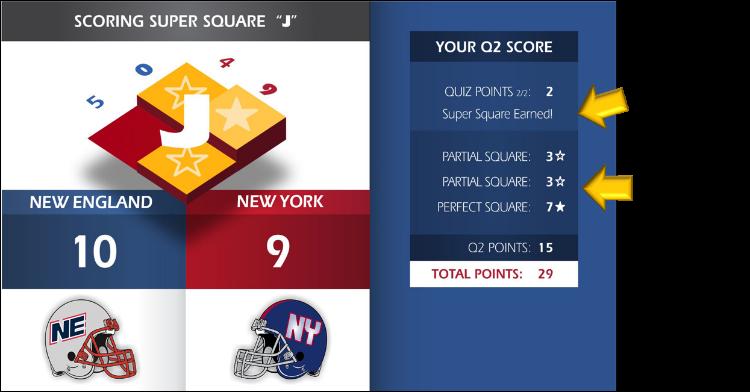 Perfect Super Squares Quiz Score